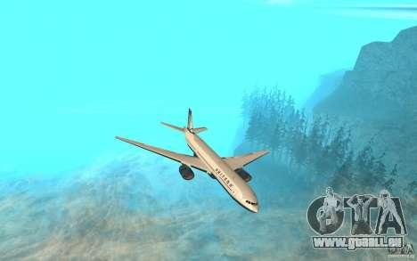 Boeing 777-300ER für GTA San Andreas linke Ansicht