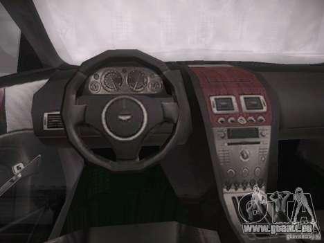 Aston Martn DB9 2008 pour GTA San Andreas vue arrière