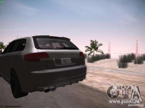 Audi RS3 2011 für GTA San Andreas zurück linke Ansicht