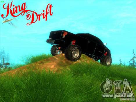 Toyota Tundra OFF Road Tuning pour GTA San Andreas vue arrière