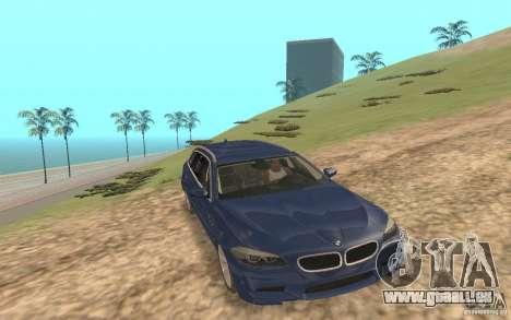BMW M5 F11 Touring pour GTA San Andreas vue de dessous