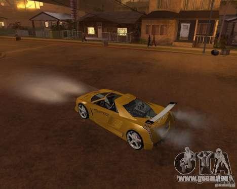 Cadillac Cien The SHARK DREAM Tuning pour GTA San Andreas vue intérieure