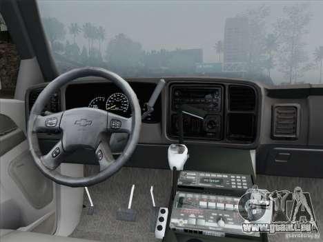 Chevrolet Suburban SFFD für GTA San Andreas Innen