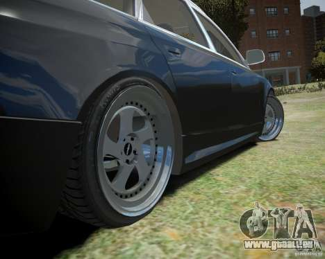 Audi A6 Avant Stanced pour GTA 4 est une vue de l'intérieur
