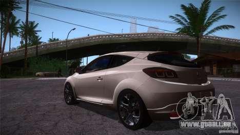 Renault Megane RS pour GTA San Andreas sur la vue arrière gauche