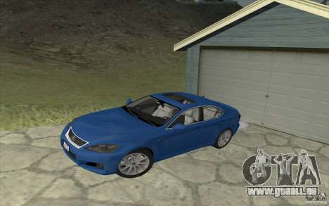 Lexus IS-F v2.0 pour GTA San Andreas vue intérieure