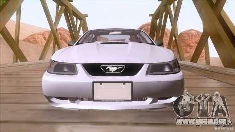 Ford Mustang GT 1999 pour GTA San Andreas vue de dessous