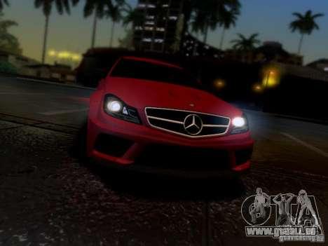 Mercedes Benz C63 AMG C204 Black Series V1.0 pour GTA San Andreas vue de droite