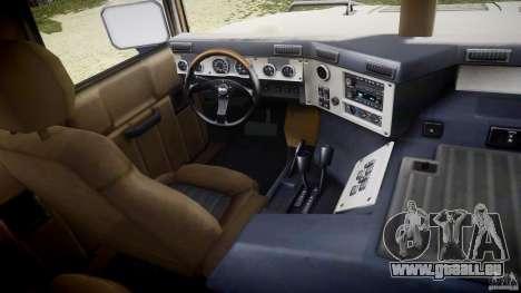 Hummer H1 Original für GTA 4 Rückansicht