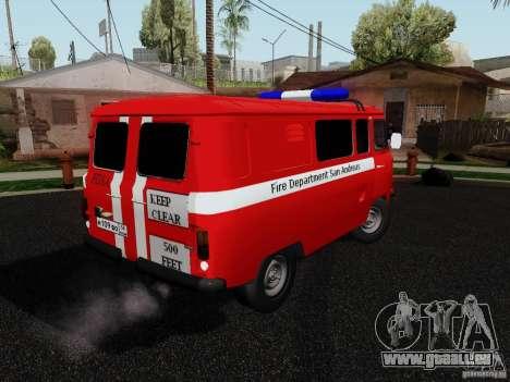 UAZ 3909 incendie pour GTA San Andreas laissé vue