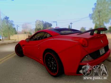 Ferrari California Hamann 2011 pour GTA San Andreas vue de côté