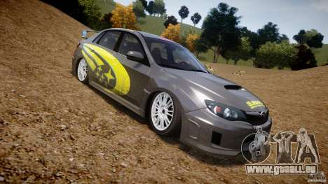 Subaru Impreza WRX STi 2011 Subaru World Rally pour GTA 4