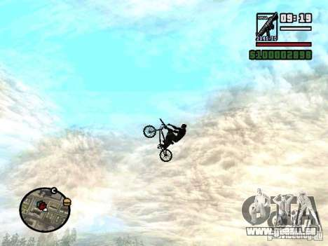 Fliegende Fahrräder für GTA San Andreas dritten Screenshot
