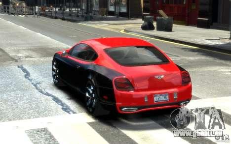 Bentley Continental SS MansorY pour GTA 4 Vue arrière de la gauche