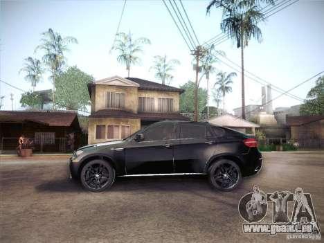 BMW X6M für GTA San Andreas zurück linke Ansicht