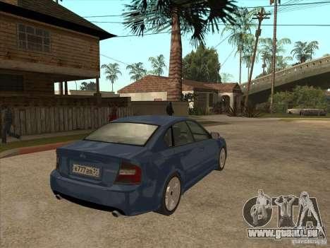 Subaru Legacy 3.0 R pour GTA San Andreas vue de droite