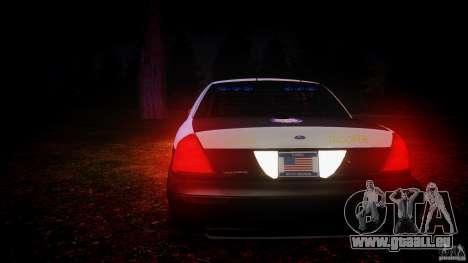 Ford Crown Victoria 2003 Florida CVPI [ELS] pour GTA 4 Salon