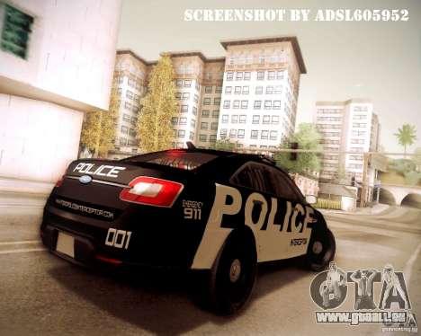 Ford Taurus Police Interceptor 2011 für GTA San Andreas Seitenansicht