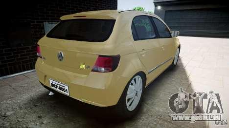 Volkswagen Gol 1.6 Power 2009 für GTA 4 hinten links Ansicht
