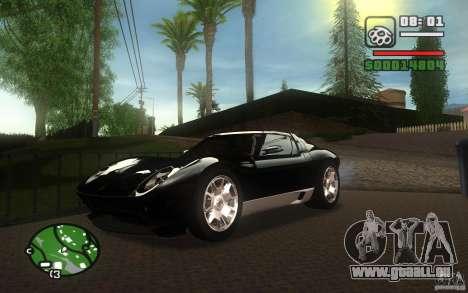 Lamborghini Miura Concept für GTA San Andreas Seitenansicht