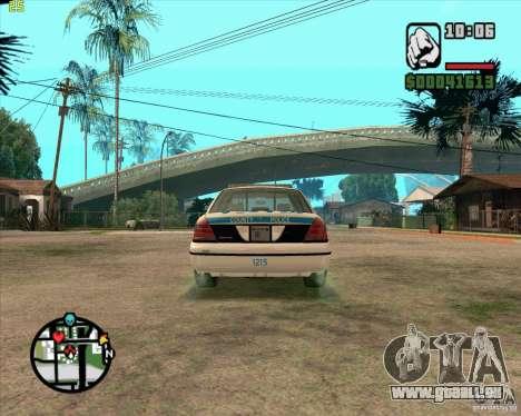 Ford Crown Victoria Baltmore County Police pour GTA San Andreas vue de droite