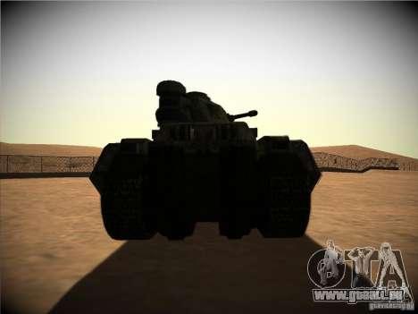 Tank aus dem Spiel TimeShift für GTA San Andreas rechten Ansicht