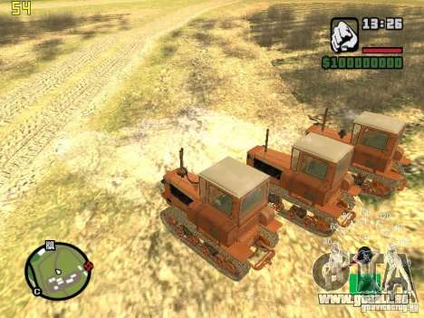 Tracteur DT-75 Postman pour GTA San Andreas vue de droite