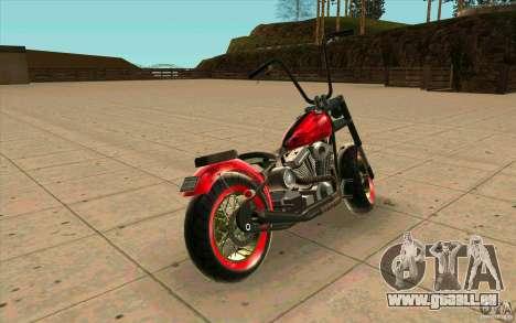 Zombie GTAIV für GTA San Andreas zurück linke Ansicht