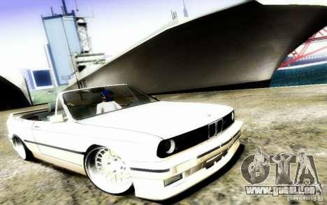 BMW E30 M3 Cabrio pour GTA San Andreas vue de côté