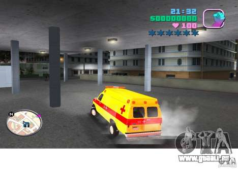 Ford Econoline E350 Ambulance für GTA Vice City linke Ansicht