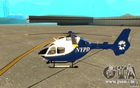 NYPD Eurocopter von SgtMartin_Riggs für GTA San Andreas zurück linke Ansicht
