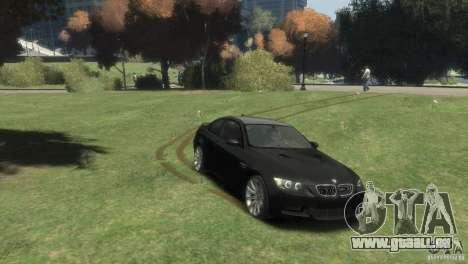 BMW M3 pour GTA 4 Vue arrière de la gauche