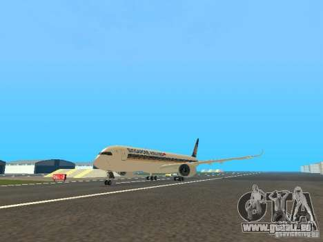 Airbus A350-900 Singapore Airlines für GTA San Andreas