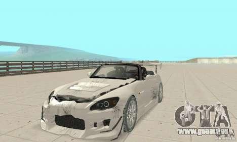 Honda S2000 Cabrio West Tuning für GTA San Andreas obere Ansicht