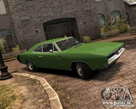 Dodge  Charger 1969 pour GTA 4 Vue arrière de la gauche