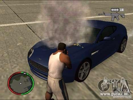 Auto-einen Feuerlöscher Löschmittel für GTA San Andreas zweiten Screenshot