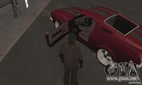 Ford Mustang 1968 für GTA San Andreas rechten Ansicht