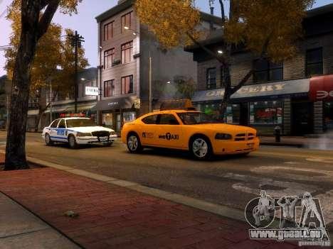 Dodge Charger NYC Taxi V.1.8 pour GTA 4 vue de dessus