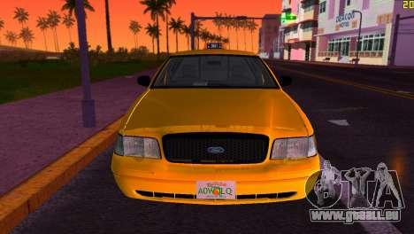 Ford Crown Victoria Taxi 2003 pour GTA Vice City vue arrière