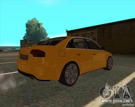 AUDI S4 Sport pour GTA San Andreas laissé vue