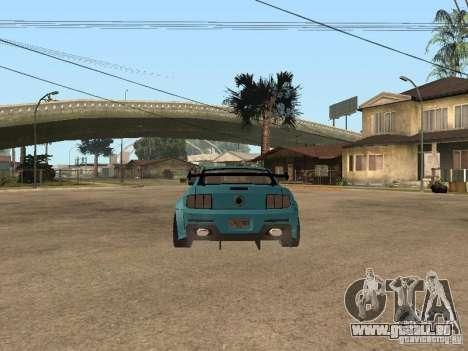 Ford Mustang GT 500 pour GTA San Andreas vue de droite