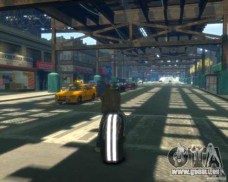 Motorrad des Throns (grau Neon) für GTA 4 hinten links Ansicht