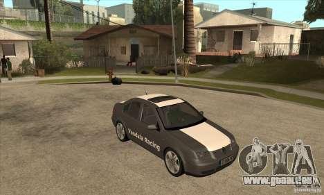 Volkswagen Bora VR6 2003 pour GTA San Andreas vue arrière