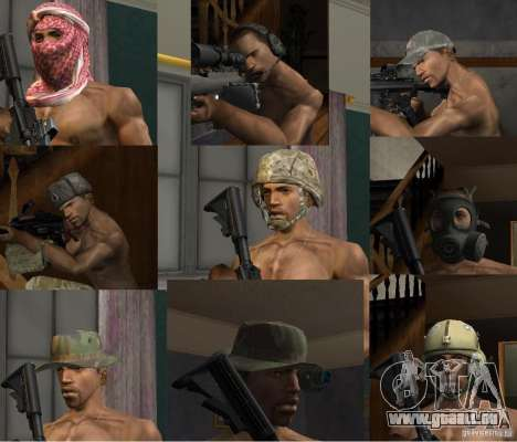 Hüte von Call of Duty 4: Modern Warfare für GTA San Andreas