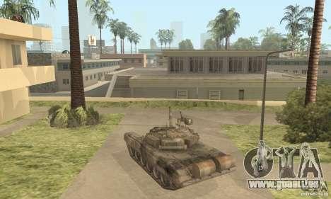 T-90A für GTA San Andreas zurück linke Ansicht