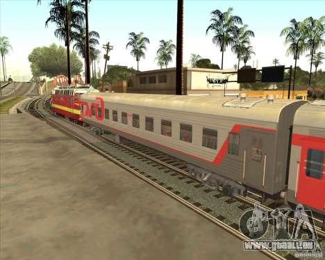Voiture de tourisme RZD pour GTA San Andreas laissé vue