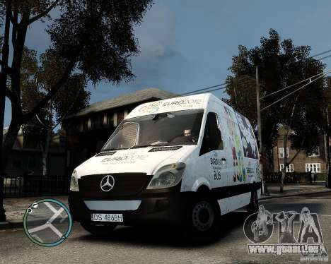 Euro 2012 Bus Mercedes Sprinter für GTA 4