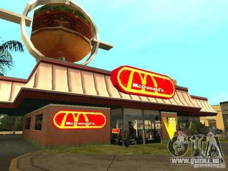 Mc Donalds pour GTA San Andreas dixième écran