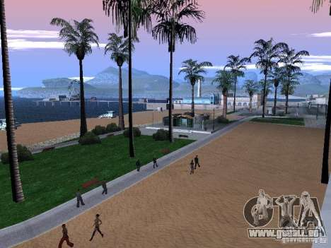 Nouvelle plage texture v1.0 pour GTA San Andreas troisième écran