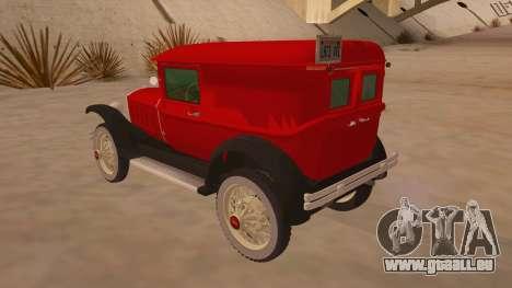 Pearce 1931 pour GTA San Andreas sur la vue arrière gauche